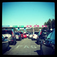 Photo taken at Sturbridge Toll Plaza by Cosmo C. on 11/28/2013