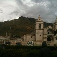 Photo taken at Plaza de Armas de Chivay by Luis B. on 1/6/2013