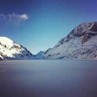 Photo taken at Lago Fedaia by Jacopo C. on 12/31/2012