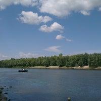 Photo taken at пляж на Пуховке by Vadim G. on 6/12/2014