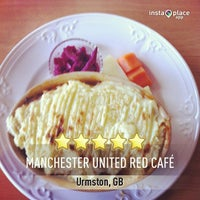 Photo taken at Manchester United Red Café by Donna K. on 4/5/2013