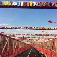 Photo taken at Williamsburg Bridge by Amanda S. on 11/23/2012