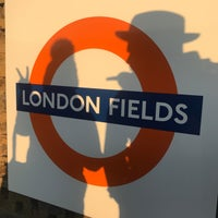Photo taken at London Fields Overground Station (LOF) by Steph K. on 2/18/2017