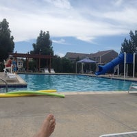 Photo taken at Homestead at the Farms Pool by Mark P. on 7/5/2014
