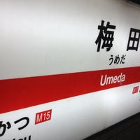 Photo taken at Midosuji Line Umeda Station (M16) by Tomohisa K. on 2/10/2013