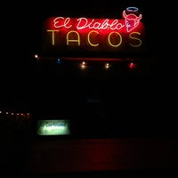 Photo taken at El Diablo Tacos by Mandy M. on 1/19/2013