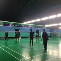 Photo taken at Pro One Badminton Centre by Nuju N. on 2/4/2017