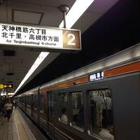 Photo taken at Sakaisuji-Hommachi Station by yoshikazu f. on 7/15/2014