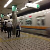 Photo taken at Sakaisuji-Hommachi Station by yoshikazu f. on 6/10/2014