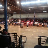 Photo taken at Roller Derby by Melly M. on 11/16/2013