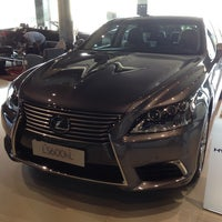 Photo taken at Lexus Showroom by Richard V. on 10/10/2013