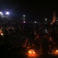 Photo taken at Serenata iluminada - manifestacao by Graziela A. on 6/8/2013