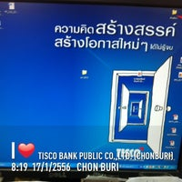 Photo taken at Tisco Bank public co.,ltd. (Chonburi) by Ampere C. on 1/17/2013
