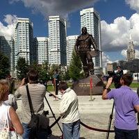 Photo taken at Памятник Водопьянову Михаилу Васильевичу by Evgeny R. on 8/17/2013
