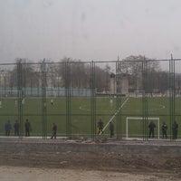 Photo taken at Футбольное поле @ Ташсельмаш by Sherzod M. on 2/25/2013