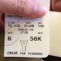 Photo taken at Thai Airways Flight TG 115 by Ek A. on 1/31/2013