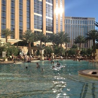 Photo taken at Palazzo Pool by Christie B. on 5/14/2013