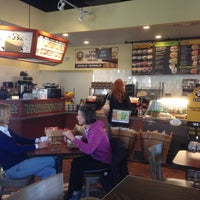 Photo taken at Einstein Bros Bagels by John M. on 3/10/2014