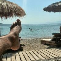 Photo taken at Plaka Beach by Κώστας Κ. on 9/20/2015