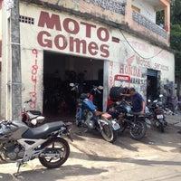 Photo taken at Moto Gomes (oficina do Nelson) by Idivan neto B. on 1/24/2014