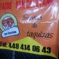 Photo taken at Tacos San Cayetano by Gianna R. on 7/19/2014