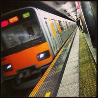 Photo taken at Den-en-toshi Line Sangen-jaya Station (DT03) by Hiroki K. on 4/7/2013
