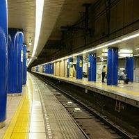 Photo taken at 岩本町駅 1-2番線ホーム by Hiroki K. on 9/5/2016