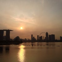 Photo taken at Marina Barrage by Michael F. on 6/23/2013