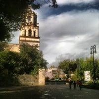 Photo taken at Jardín Hidalgo by Esteban B. on 7/6/2013