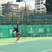 Photo taken at ITF Uluslararasi Bayan Tenis Turnuvasi by Pınar A. on 4/8/2017