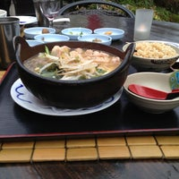 Photo taken at Domo Japanese Country Foods Restaurant by Chris G. on 5/7/2013