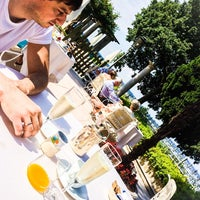 Photo taken at Villa Cortine Palace Hotel by Maria S. on 6/18/2014