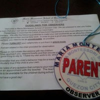 Photo taken at Maria Montessori School of Quezon City by Thea P. on 9/25/2013