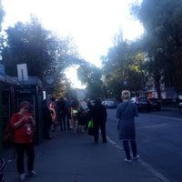 Photo taken at Зупинка «Вулиця Багговутівська» by Anna K. on 9/14/2017