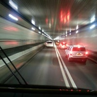 Photo taken at Lincoln Tunnel by Brandon H. on 10/29/2012