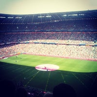 Photo taken at Allianz Arena by Sergii K. on 4/27/2013