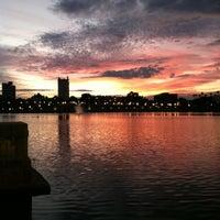 Photo taken at Lake Mirror by Kelli M. on 10/19/2012