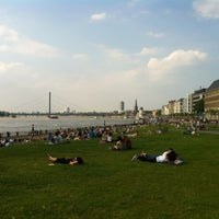 Photo taken at Rheinuferpromenade by Bastian K. on 6/8/2013