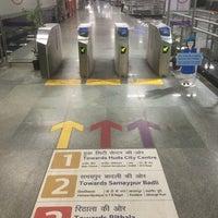 Photo taken at Kashmere Gate Metro Station by Shiladitya M. on 7/11/2017