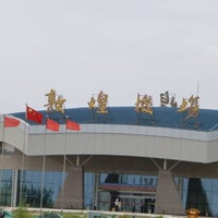 Photo taken at Dunhuang airport (DNH) by Hiroshi H. on 8/14/2013