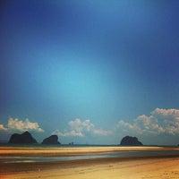 Photo taken at Rajamangala Beach by Au S. on 4/9/2014