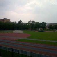 Photo taken at Stadio Atletica Pordenone by Elena R. on 6/4/2014