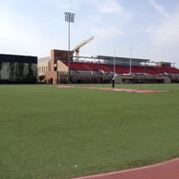 Photo taken at Ernie Chapman Stadium by Roxanne R. on 3/29/2014
