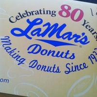 Photo taken at LaMar's Donuts and Coffee by Michael L. on 12/13/2012