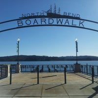 Photo taken at North Bend Boardwalk by Carrie G. on 3/7/2013