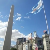 Photo taken at Obelisco - Plaza de la República by Jorge A. on 2/25/2013