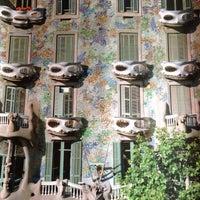 Photo taken at Casa Batlló by Sriram K. on 6/18/2013