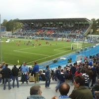 Photo taken at Stadio Silvio Piola by Stefano B. on 5/22/2013