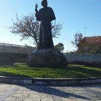 Photo taken at Памятник Адаму Мицкевичу by Olga S. on 10/18/2014