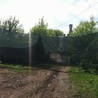 "Photo taken at Пейнтбольный парк ""Маяк"" by Andrey M. on 5/30/2015"